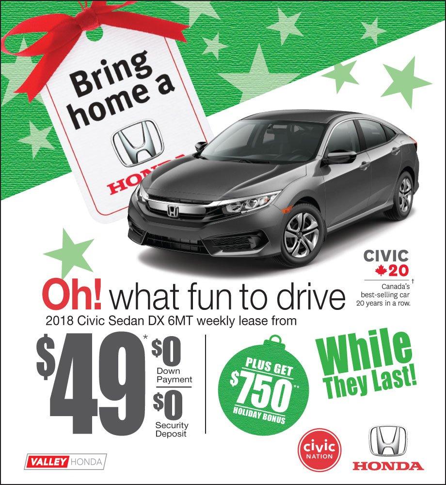Bring Home a Honda – Civic