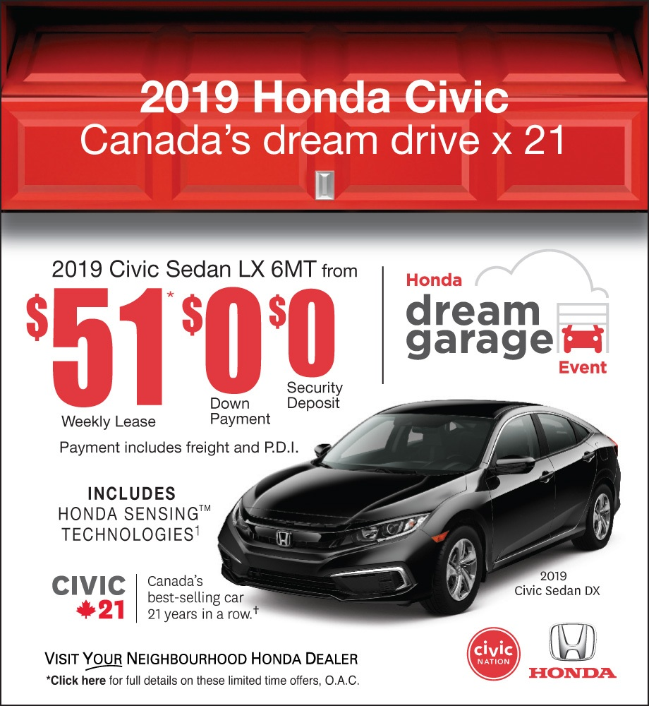 2019 Honda Dream Garage Sales Event – Civic
