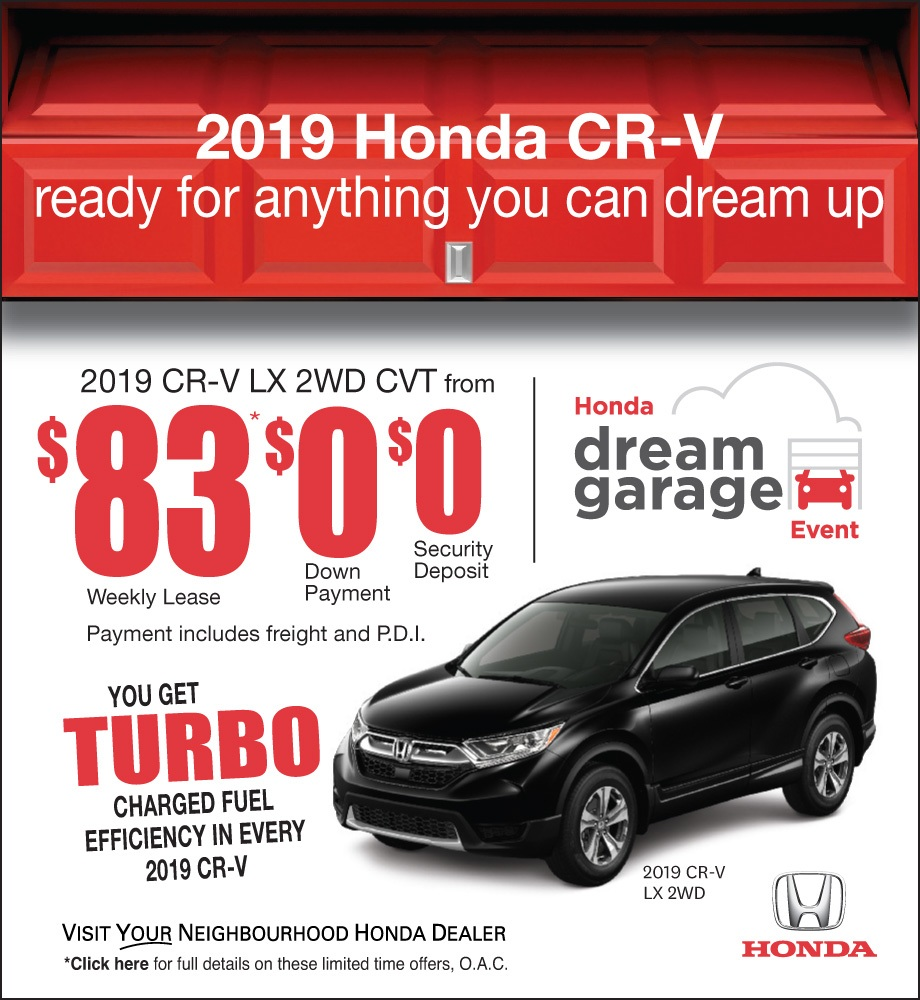 Honda Dream Garage Sales Event – CR-V